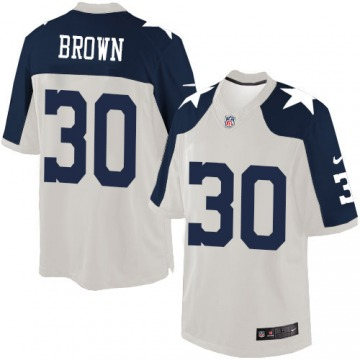 Men's Anthony Brown Dallas Cowboys Nike Limited Throwback Alternate Jersey - White