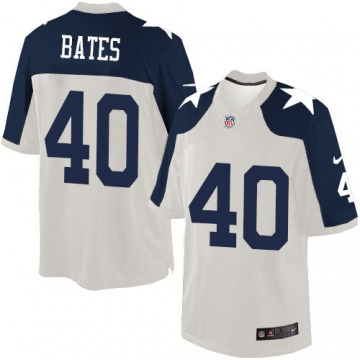 Men's Bill Bates Dallas Cowboys Nike Limited Throwback Alternate Jersey - White