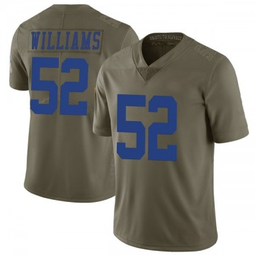 Men's Connor Williams Dallas Cowboys Nike Limited 2017 Salute to Service Jersey - Green