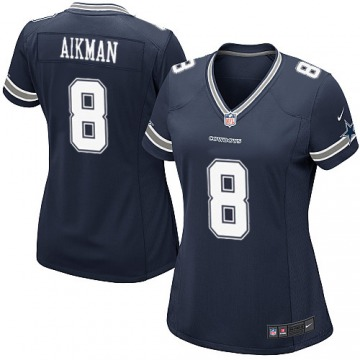 Women's Troy Aikman Dallas Cowboys Nike Game Team Color Jersey - Navy Blue