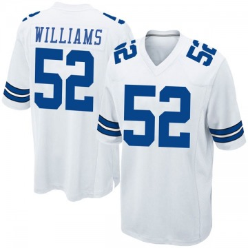 Youth Connor Williams Dallas Cowboys Nike Game Jersey - White