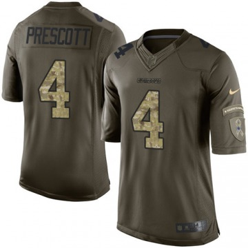 Youth Dak Prescott Dallas Cowboys Nike Limited Salute to Service Jersey - Green
