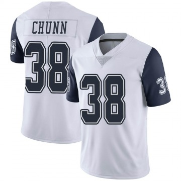 Youth Jordan Chunn Dallas Cowboys Nike Limited Color Rush Vapor Untouchable Jersey - White