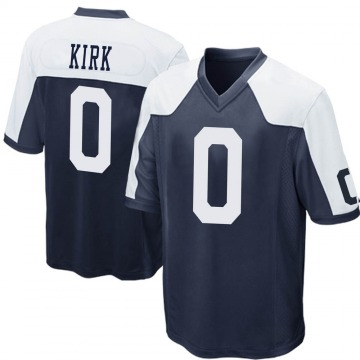 Youth Luther Kirk Dallas Cowboys Nike Game Throwback Jersey - Navy Blue
